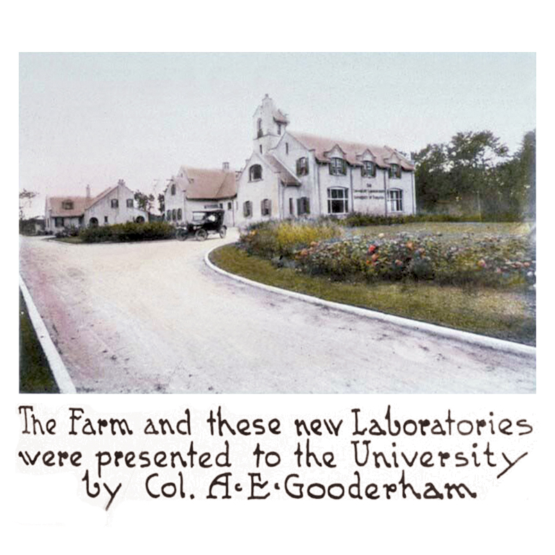 1915 Sir Albert E. Gooderham was instrumental in creating Connaught Labs